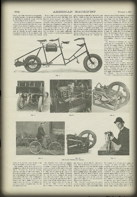 Henry Ford Quadricycle, American Machinist, November 7, 1895.