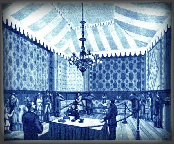 Victorian Era Theatrophone. 1881. Image: Nature, Oct. 1881.Image: Wikipedia.