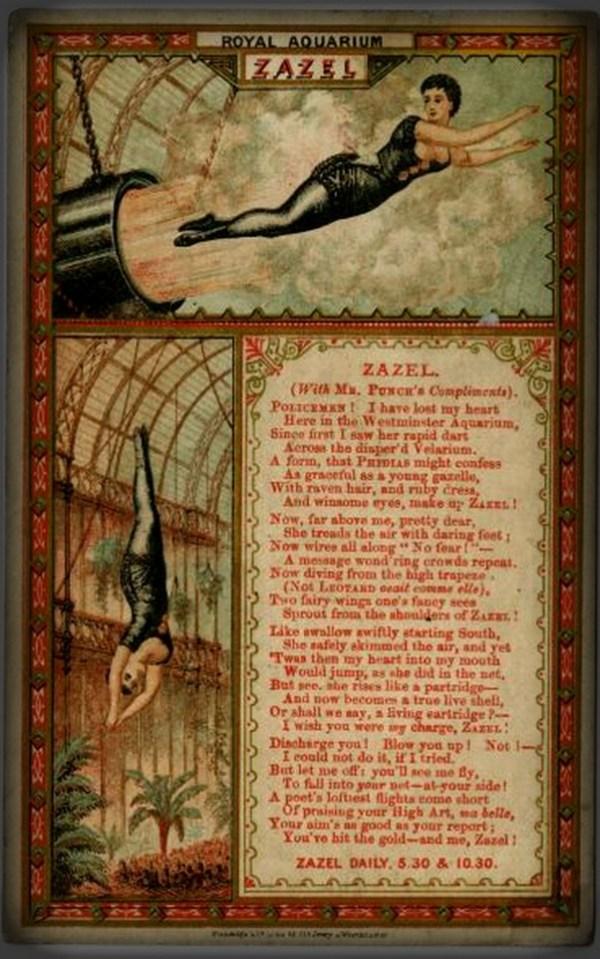 Zazel The Human Cannonball. Image: Wikipedia.