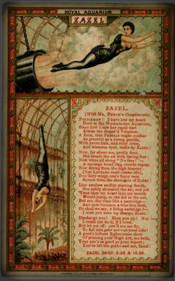 Zazel The Human Cannonball. Image: Wikipedia.