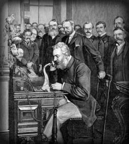 Centennial Exposition 1876, Actor Portraying Alexander Graham Bell. Image: Wikipedia