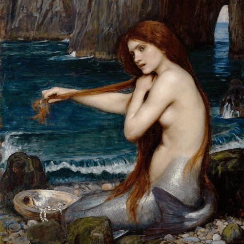 Victorian Era Mermaids: John William Waterhouse, A Mermaid, 1900. Image: Wikipedia.