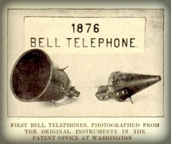 Centennial Exposition 1876, Telephone. Image: Wikipedia.