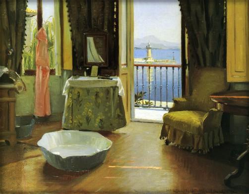 Harald Slott-Moller: View Of Lake Garda at Desenzano, Italy, Date 1910. Image: Wikipedia.