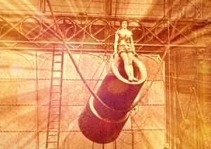 Zazel The Human Cannonball, 1897. Image: The Strand Magazine-Wikipedia.