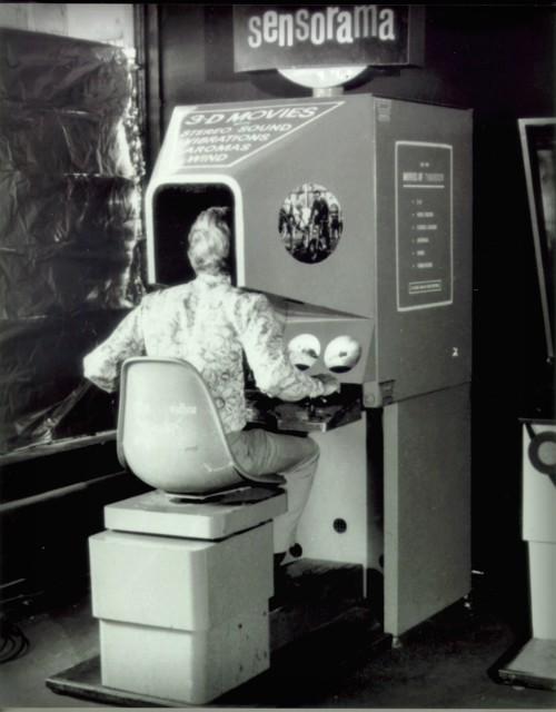 Virtual Reality, Sensorama, Morton Heilig. 1962. Image: Minecraftpsyco.