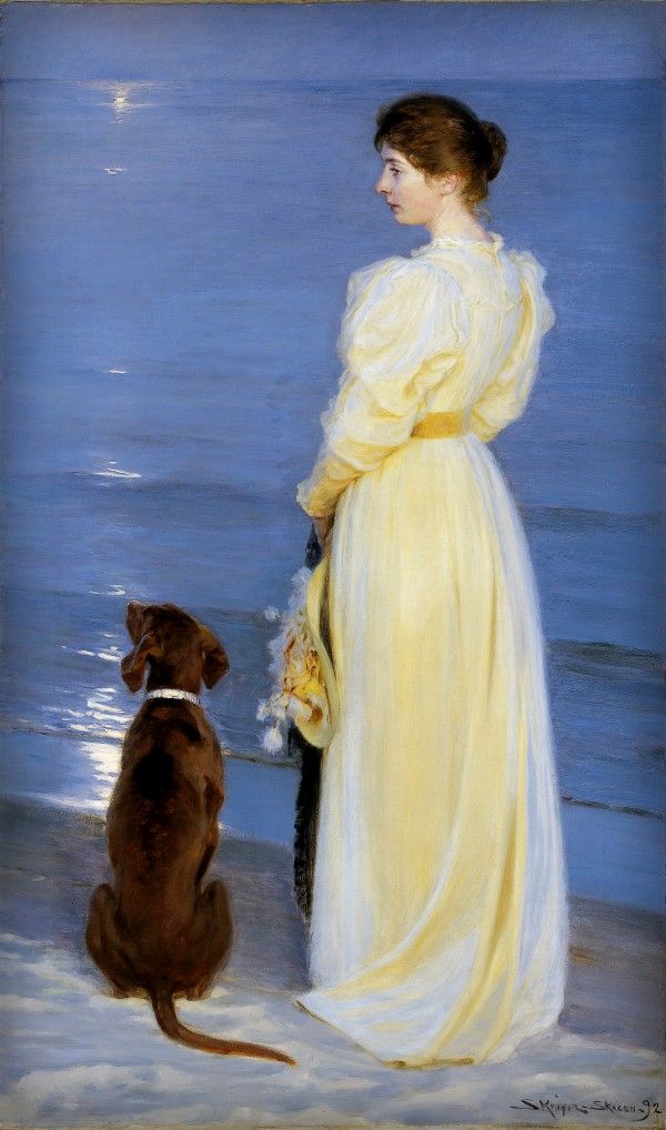 Peder Severin Kroyer: Summer Evening At Skagen, 1892. Image: Wikipedia.
