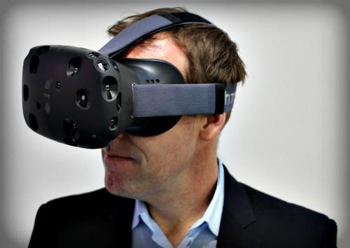 Virtual Reality Headset, HTC Vive. Image: Maurizio Pesce.