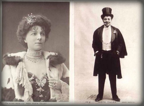 Vesta Tilley, Male Impersonator. Image: Wikipedia.