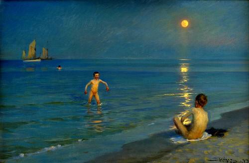 Peder Severin Kroyer: Boys Bathing On Summer Eve, 1899. Image: Wikipedia.