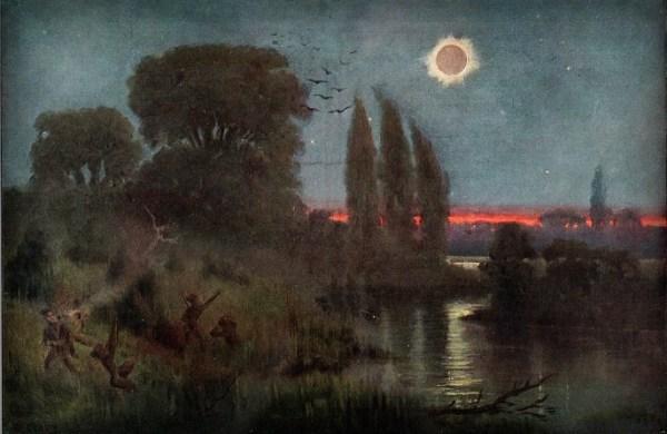 Total Solar Eclipse, Wilhelm Kranz, 1880. Image: Wikipedia.