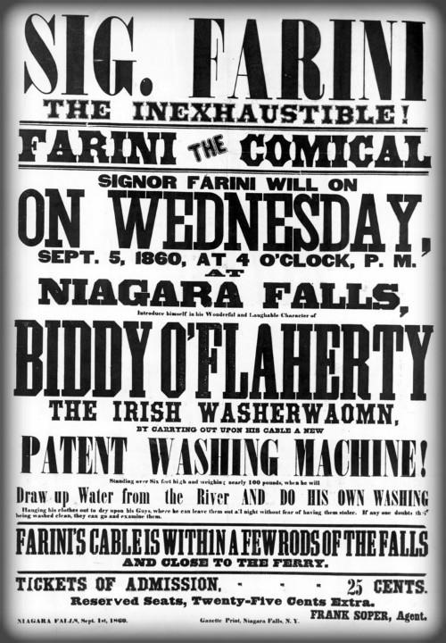 The Great Farini Flyer, 1859. Image: Earl W. Brydges Public Library, Niagara Falls.