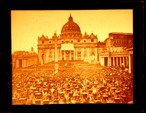 Carlo Ponti Photograph; Papal Blessing in St. Peter's Square, Rome. Image: luminous-lint.com.