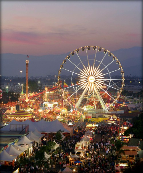 wide shot of ferris in the sunset at LA County Fair,2008. Image: TheRealThummer.