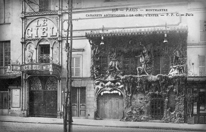Cabaret Of Hell And Heaven, Montmartre, 1900. Image: Public Domain.