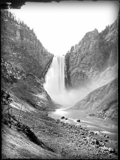 Yellowstone Great Falls, William Henry Jackson Photo, 1874. Image: Wikipedia.