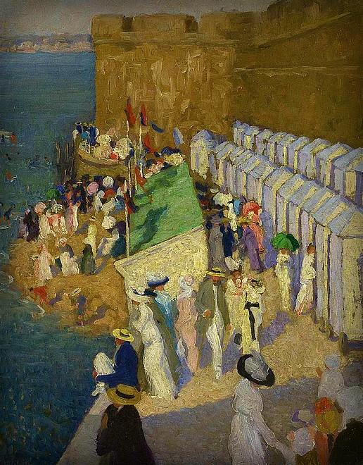 Ethel Carrick Fox, High Tide, 1911-12. Image: artnet.com.