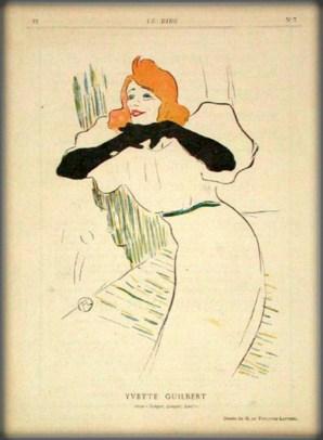 Folies-Bergère: Yvette Guilbert, Toulouse-Lautrec. Image: Wikipedia.