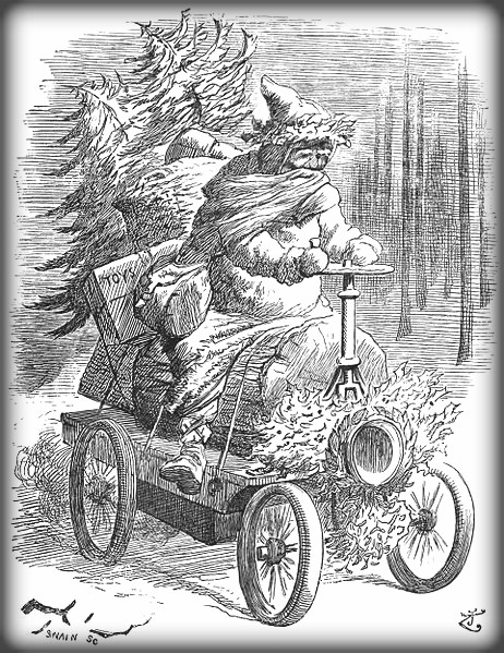 'Father Christmas Up-To-Date, Dec 1896. Image: Wikipedia.