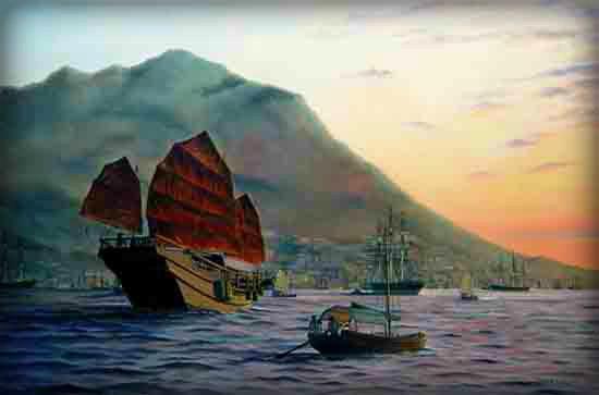 Victorian New Year, 19th Century Hong Kong Harbor. Image: paulgarnett.com.