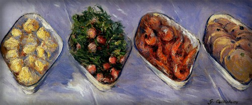 Victorian New Year, Nellie Bly: Hors d'Oeuvre, 1881 by Gustave Caillebotte. Image: Wikipedia.