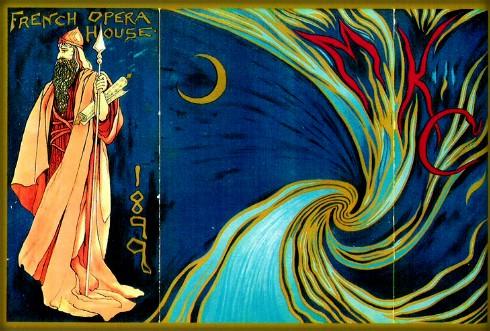 Nineteenth-Century Mardi Gras Invitation, 1899: Comus French Opera House. Image: Wikimedia.