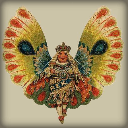 Nineteenth-Century Mardi Gras Invitation. Rex Butterfly King, 1882. Image: Wikimedia.
