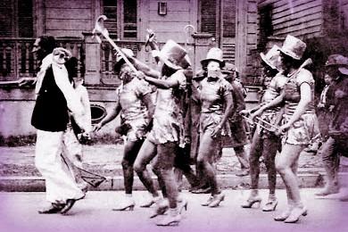 Nineteenth-Century Mardi Gras Rebels: Baby Dolls, 1932. Image: insidenola.org.