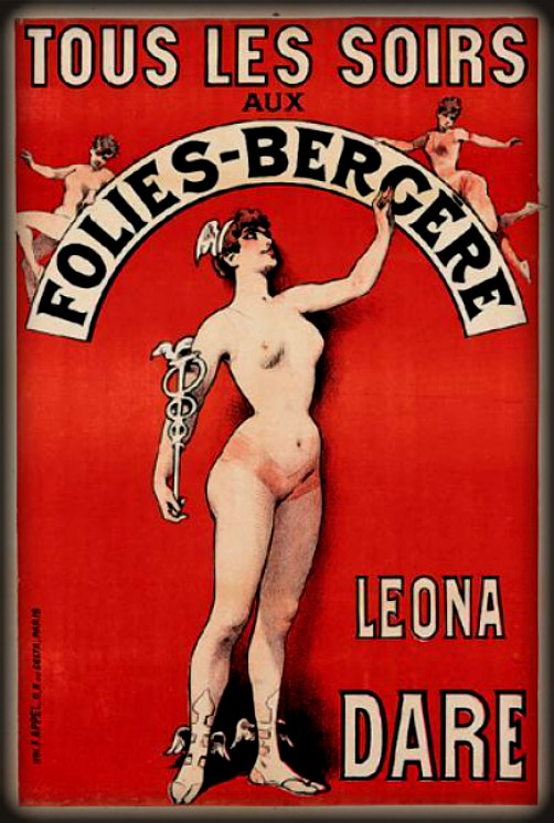 Leona Dare Poster, Folies-Bergere. Image: PostersPlease.com.