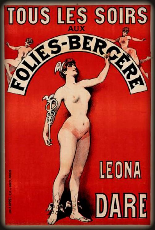 Leona Dare Poster, Folies-Bergere. Image: PostersPlease.com.