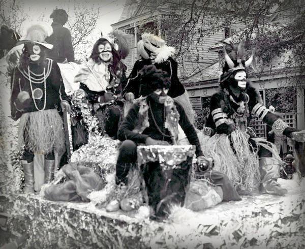 Nineteenth-Century Mardi Gras Rebels: Zulu King, Louis Armstrong, 1949. Image: Wikimedia.