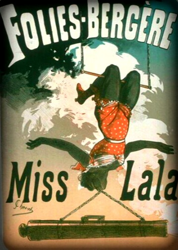 Miss LaLa With Cannon Poster. Image: http://collections.lesartsdecoratifs.fr.