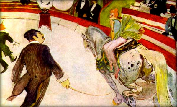 Cirque Fernando by Toulouse-Lautrec, 1887. Image: Wikipedia.