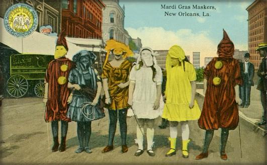 Nineteenth-Century Mardi Gras Rebels: Baby Dolls. Image: Wikipedia.
