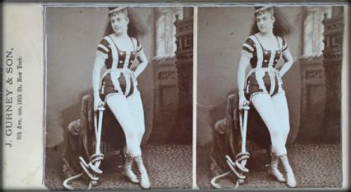 Leona Dare, Stereo View Photo. Image: AntiquesNavigator.com.