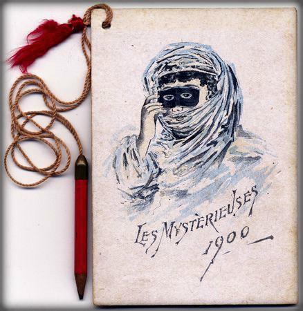 Nineteenth-Century Mardi Gras Rebels: Les Mysterieuses Dance Card, 1900. Image: NealAuction.com.