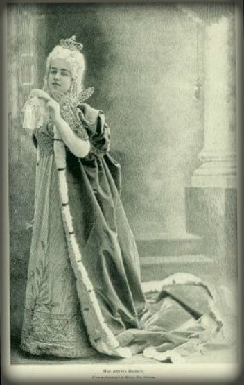 Nineteenth-Century Mardi Gras Rebels: Les Mysterieuses Queen. Image: Louisiana State Museum.