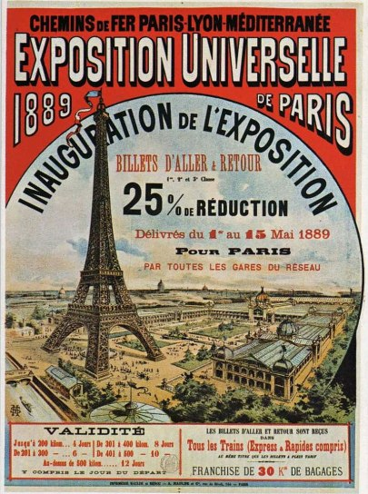 1889 Exposition Poster. Image: Wikipedia.