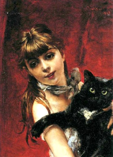 Girl With A Black Cat, 1885. Image: Wikipedia.