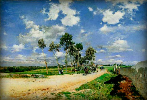 Giovanni Boldini, Great Road in the Villas Combes, 1873. Image: Wikipedia.