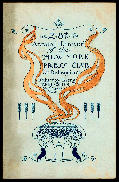 New York Press Club Delmonico's Menu, 1901. Image: Wikipedia.