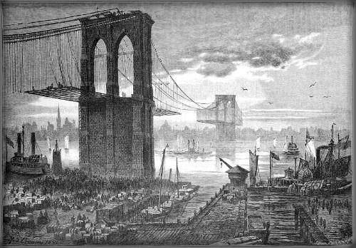 First Female Field Engineer, Emily Warren Roebling: Brooklyn Bridge, 1881. Image: Wikipedia.