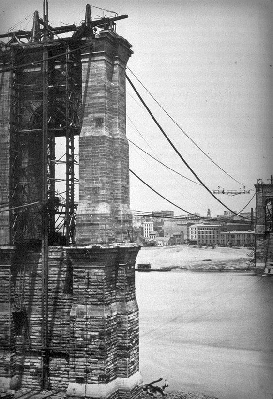 First Female Field Engineer, Emily Warren Roebling: Brooklyn Bridge, 1878. Image: New York Public Library.