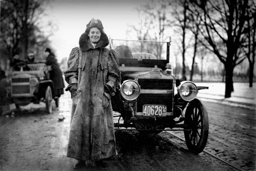 Alice Huyler Ramsey Race, 1909. Image: Library of Congress.