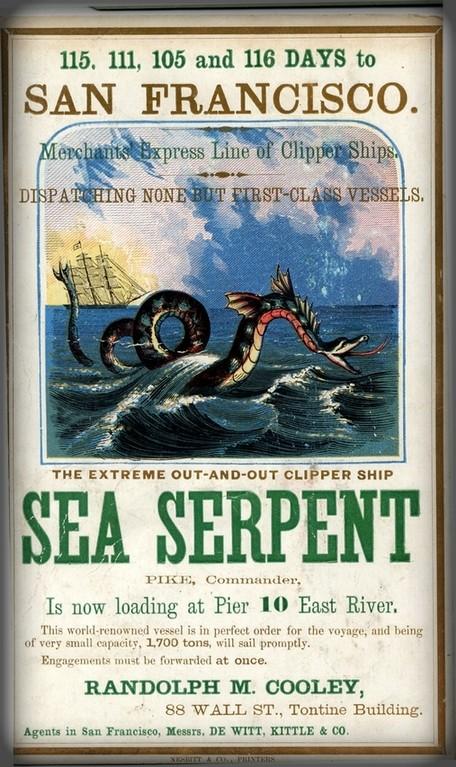 Sea Serpent Ship Poster. Image: Wikimedia.