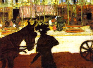 Carriage Horse, 1895 by Pierre Bonnard. Image: Wikimedia.