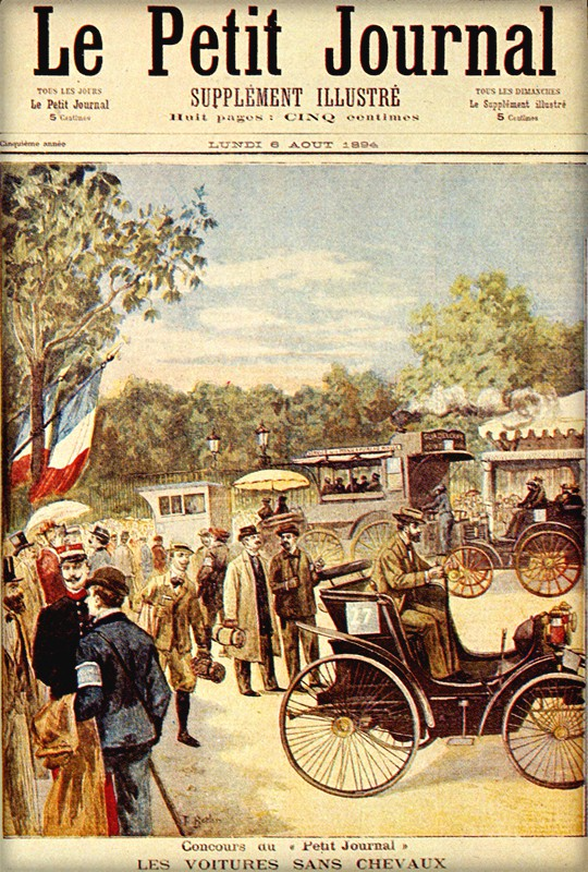 First Car Race, Le Petit Journal, 1894. Image: Wikipedia.