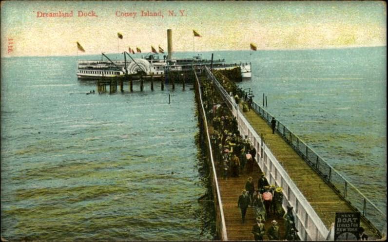 Coney Island Dreamland: Dock. Image: Library of Congress.