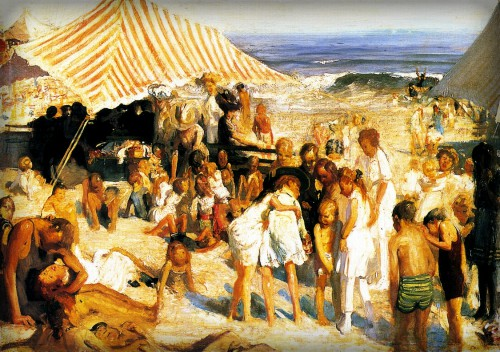 Beach At Coney Island, 1908 by George Wesley Bellows.
