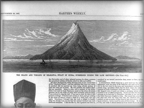 Victorian Era Krakatoa Eruption: Harpers weekly, September 1883. Image: Library of Congress.